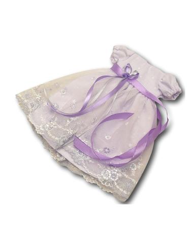 Платье кружевное - Сиреневый. Одежда для кукол, пупсов и мягких игрушек.