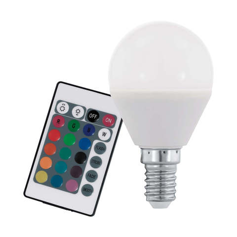 Лампа RGB LED диммируемая с пультом ДУ Eglo RGB-W INFRARED LM-LED-E14 4W 300Lm 3000K P45 10682