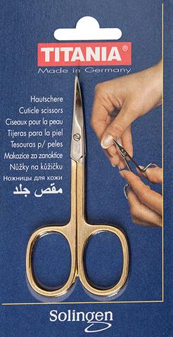 Ножницы для кожи позолоченные Titania