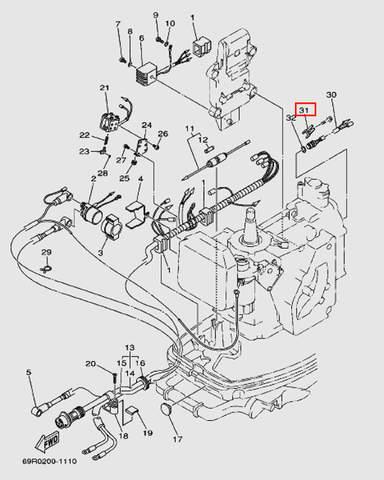 Держатель для лодочного мотора Т30 Sea-PRO (9-31W)