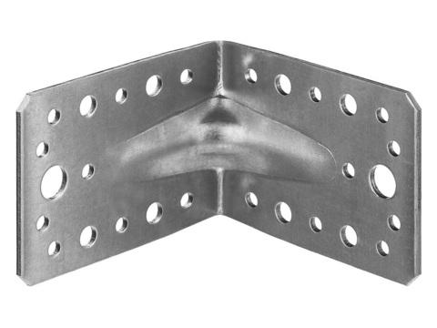 Уголок крепежный усиленный УКУ-2.5, 65х90х90 х 2.5мм, ЗУБР