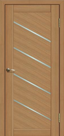 Дверь La Stella 215, стекло матовое, цвет дуб сантьяго, остекленная
