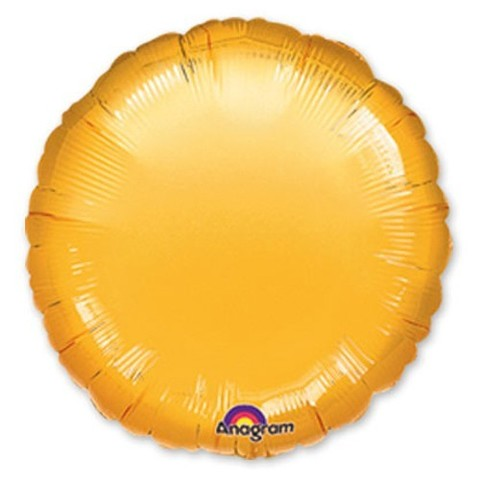 Круг Металлик, Золотой (46 см)