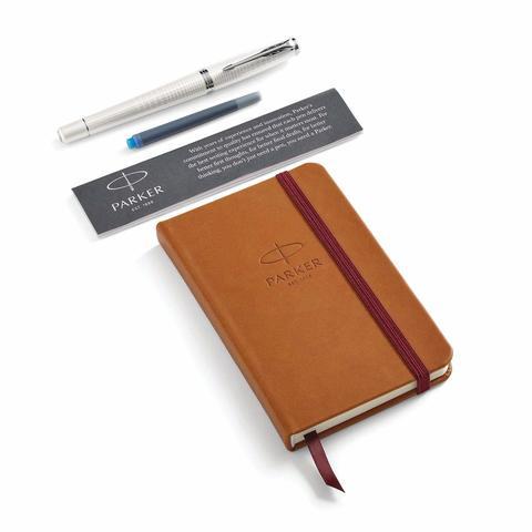 Набор с блокнотом и Перьевая ручка Parker Urban Premium Pearl Metal CT, перо М123