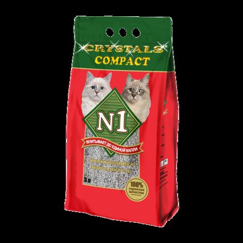 №1 Crystals Compact Наполнитель для туалета кошек комкующийся
