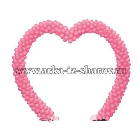 сердце арка из шаров