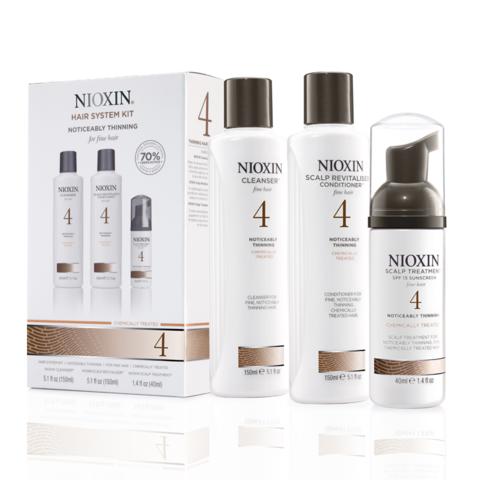 Nioxin Система 4 Набор XXL из 3 продуктов шампунь кондиционер маска