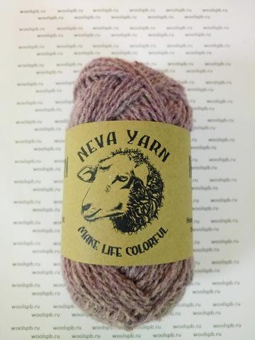 Натуральная овечья шерсть тонкорунных пород  50г/105м (Neva Yarn)