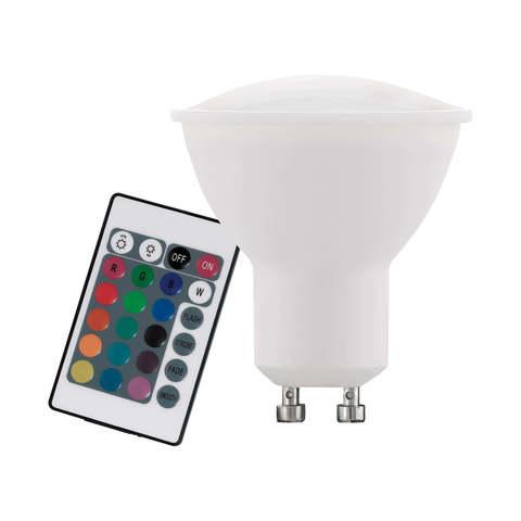 Лампа RGB LED диммируемая с пультом ДУ Eglo RGB-W INFRARED LM-LED-GU10 4W 220Lm 3000K  10686