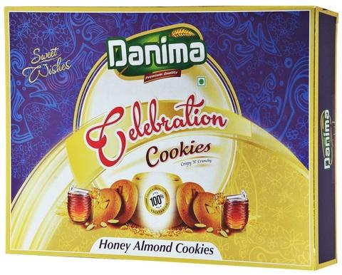 Индийское медовое печенье с миндалем Данима, 300г