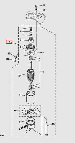 Мотор электростартерный для лодочного мотора Т30 Sea-PRO (10-1~15W)