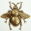 "Винтажный декоративный элемент - штамп ""Пчела средняя"" 42х39 мм  (оксид латуни)"