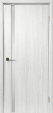 Дверь Дера Оскар 983, стекло триплекс белый, цвет сандал белый, остекленная