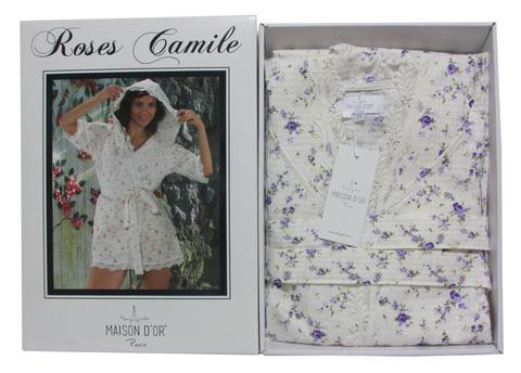 Roses camile - РОСЕС КАМИЛЕ женский вафельный халат  Maison Dor Турция