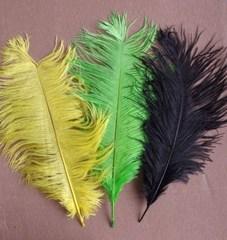 Перья страуса  декоративные 35-40 см. Уценка, категория 2 (выбрать цвет)