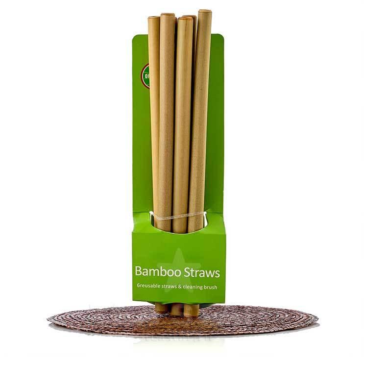 Для чашек Трубочки коктейльные 20 см, широкие, набор из 6 шт bamboo_straws-teastar.jpg