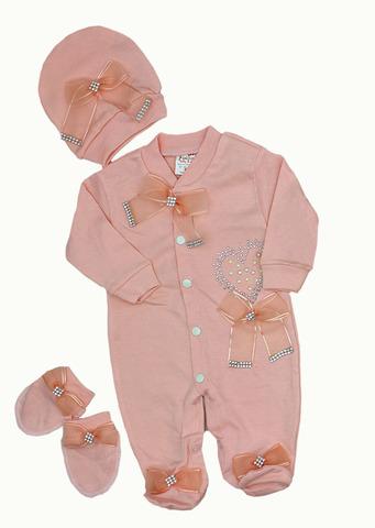 FINDIK Комплект для новорожденного  персиковый