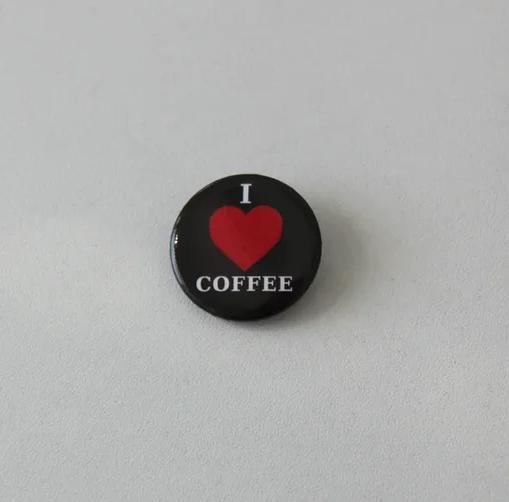 Значок I love coffee