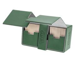 Ultimate Guard - Двойная кожаная зеленая коробочка с отделением для кубиков на 200 карт