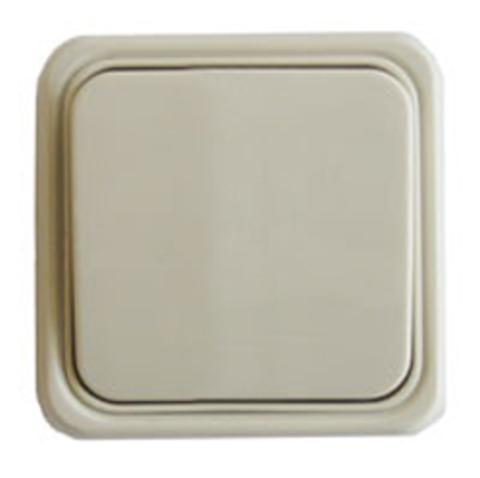 Выключатель одноклавишный открытой установки, схема 1. Цвет Бежевый. LK Studio STANDARD (ЛК Студио СТАНДАРТ). 810101