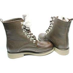 Ботинки коричневого цвета женские зимние Studio27 576c Broun.