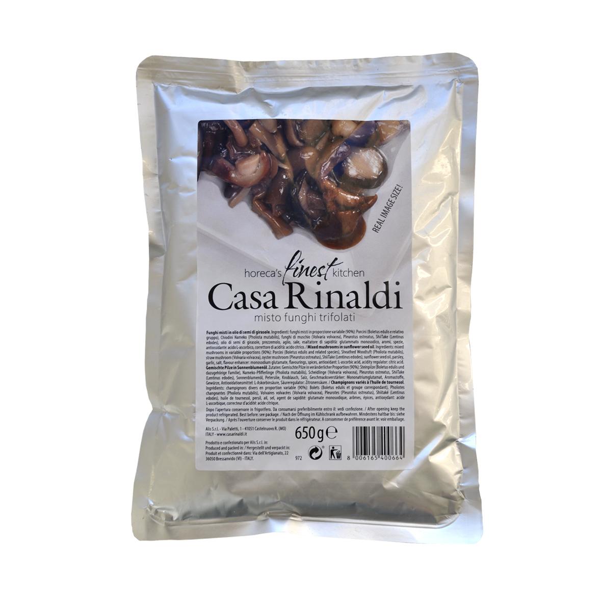 Ассорти грибов Casa Rinaldi в подсолнечном масле 650 г