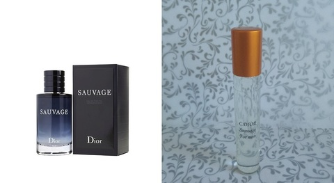 Масляные духи Sauvage C. DIOR 10 мл