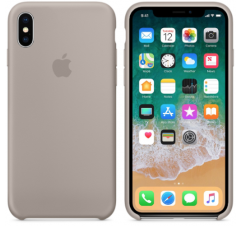 iPhone X/XS Silicone Case Светло Серый