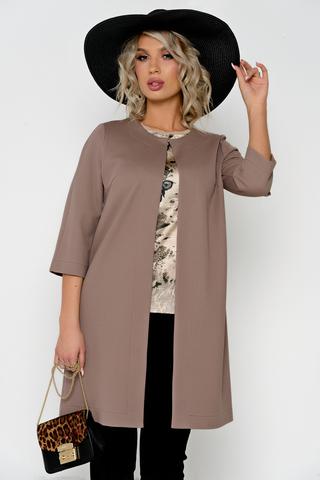 Модная парка (летнее пальто), прекрасно сочетается с любыми вещами Вашего гардероба. Круглый вырез горловины, рукав 3/4, без подкладки. Застёжка на крючках.  (Длина: 44-48 = 88см: 50-52 = 89см:)