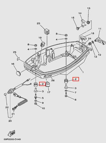 Уплотнитель для лодочного мотора Т30 Sea-PRO (11-2)