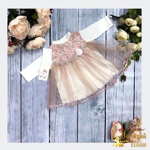 Платье+повязка малышке (56-68) 191102-Р-831