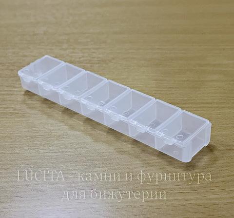 Пластиковый контейнер прямоугольный 155х33х18 мм