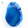 Подвеска Агат (тониров), цвет - синий, 48-65 мм