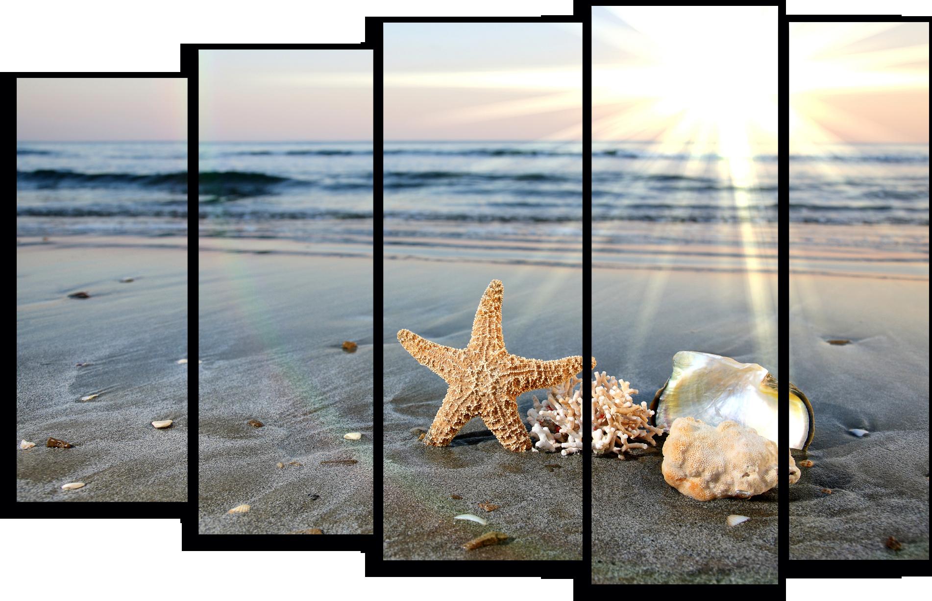 """Природа Модульная картина """"Пляж"""" М762.png"""