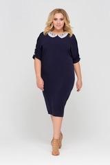 Платье Тутси с кружевным воротником 416114