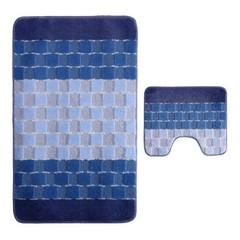 Набор ковриков для ванной BANYOLIN SILVER 60х100 см ворс, голубой