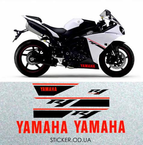 Набор наклеек на YAMAHA YZF R1 2014