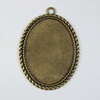 """Сеттинг - основа - подвеска """"Плетенка"""" для камеи или кабошона 40х30 мм (цвет - античная бронза)"""