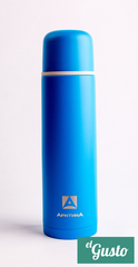 Термос бытовой вакуумный для напитков «Арктика», синий 1 литр