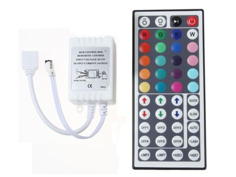 Контроллер RGB 12V. 72W. 6A с цветным пультом, 44 кнопки