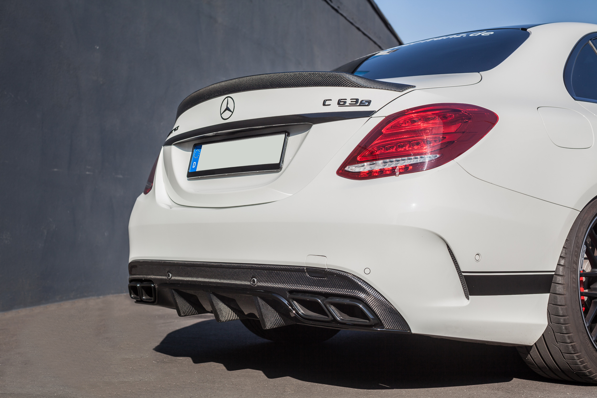 Rear bumper diffuser for Mercedes W205