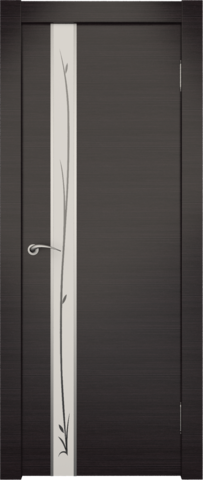 Дверь Zadoor Маэстро (зеркало с рисунком), цвет венге, зеркало