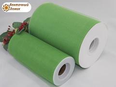 Фатин в рулончиках зеленый