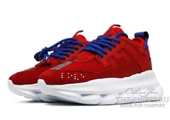 Кроссовки Versace Chain Reaction 2 Chainz Red White