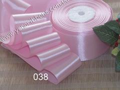 Лента атласная однотонная розовая - 038