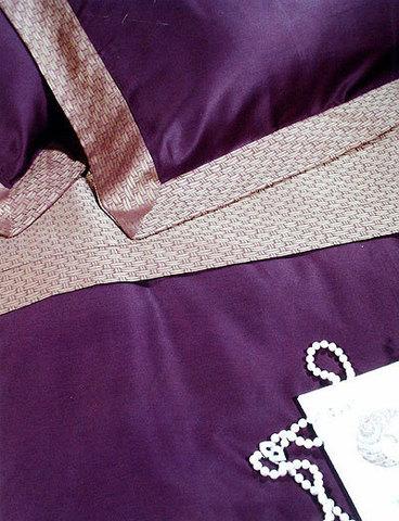 Постельное белье 2 спальное Cassera Casa Tour Eiffel пурпурное