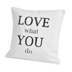 Элитная подушка декоративная Script Love Do от Casual Avenue
