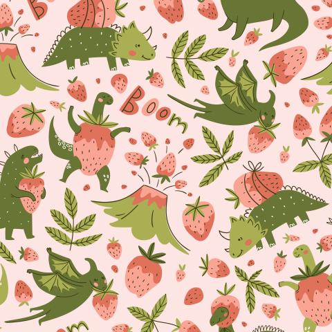Динозавры и клубника