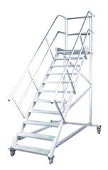 Лестница передвижн. с платф., 16 ступ. 600 мм, из лёгк. металла, 45°