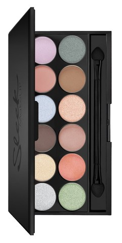 Sleek MakeUP Eyeshadow Palette I-Divine Nordic Skies - Тени для век в палетке, 12 тонов 809